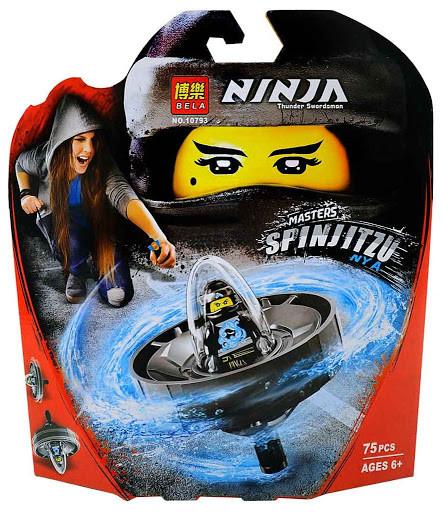 """Конструктор Bela 10793 Ninja (реплика Lego Ninjago 70634) """"Мастер спин-джитсу Ния"""", 75 дет"""