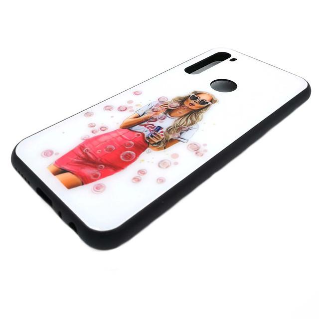стильный чехол на Xiaomi Redmi Note 8t девушка с мыльными пузыпями