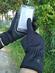 Сенсорные перчатки softshell Tramp. Сенсорные перчатки. Перчатки неопрен WindStopper + сенсор
