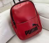 Женский рюкзак  кожзам Calvin Klein и Puma. Красный, фото 2