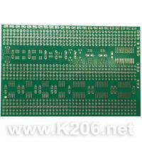 МАКЕТКА 70X110MM SOT23/SO/SSOP Плата макетная 70x110mm для SMD элементов SOT23 / SO / SSOP односторонняя