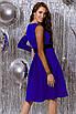 Женское платье с бархатным поясом Электрик, фото 4