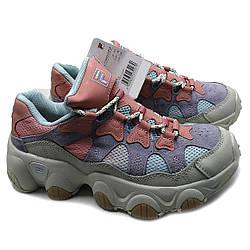 Женские кроссовки на высокой подошве цветные в стиле Fila Jagger