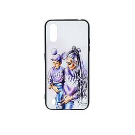 Женский чехол для Samsung Galaxy A01 A015 силиконовый с зеркальной крышкой Girl Case, Mickey Family