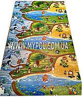 Детский коврик Киндер пол , Союзмультфильм, Мадагаскар, теплый 2*1,2 м толщ 8 мм