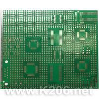 МАКЕТКА 90X110MM TQFP/SO/SSOP Плата макетная 90x110mm для SMD элементов TQFP / SO / SSOP односторонняя