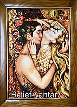 """Картина из янтаря """"Любовь"""" 40x60 см"""