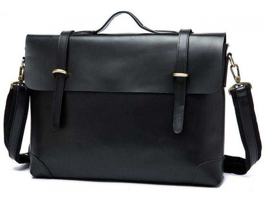 Мужской кожаный портфель Vintage 14646 кожаный Черный