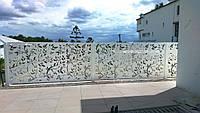 Забор из металла перфорированный