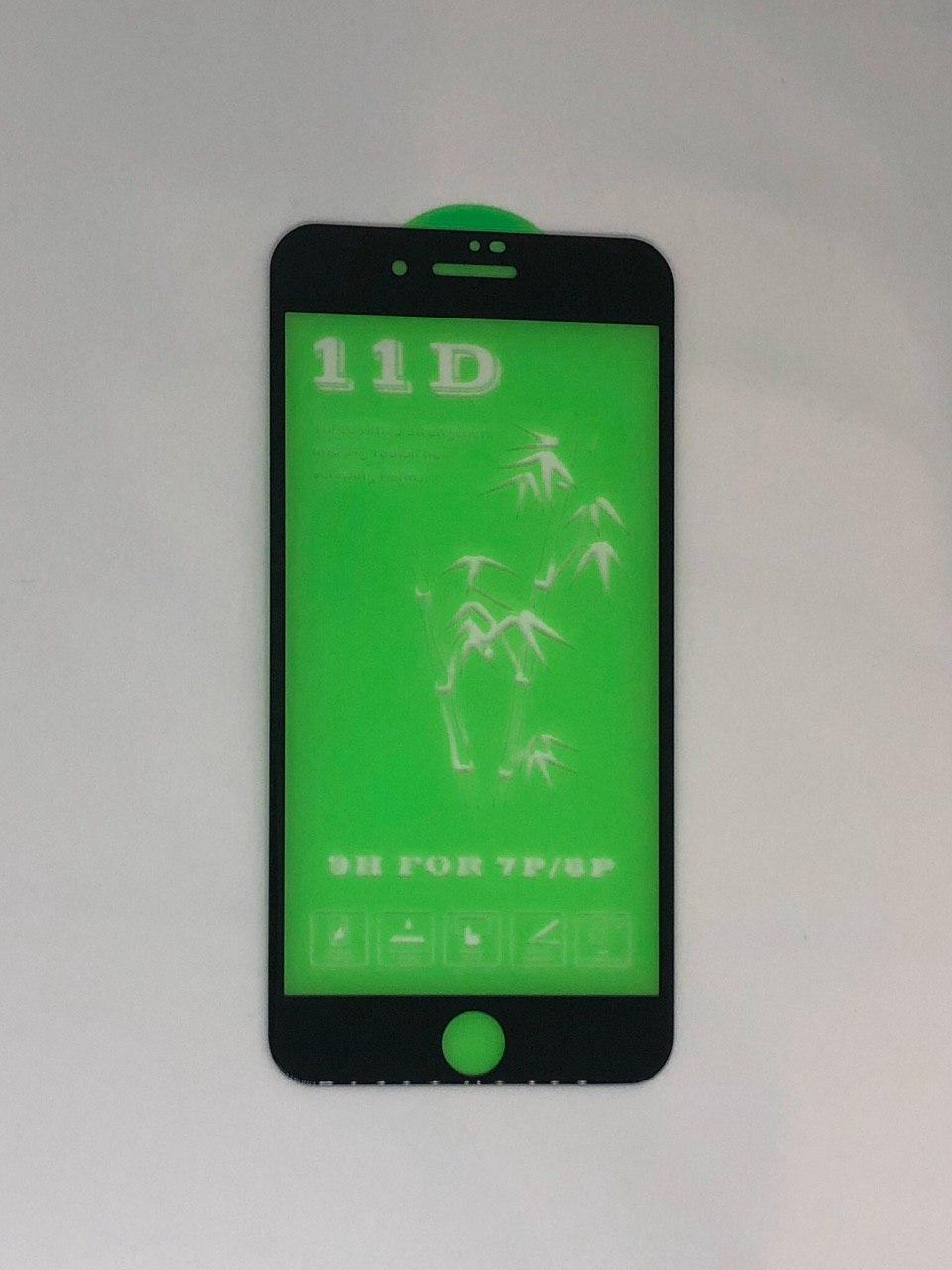 Скло 11D для iPhone 6s Plus , black