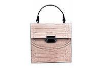 Итальянская женская сумка из натуральной кожи. Цвет: Пудра, фото 1