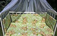 АКЦИЯ! Комплект 11в1 детское постельное защита бортики балдахин одеяло подушка