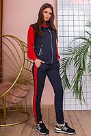 Женский спортивный турецкий костюм тройка. Отличное качество! НОРМА 42-46 (3расцв), фото 1