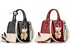 Стильная женская сумка Eva 2 цвета в наличии + Брелок и кошелёк в подарок