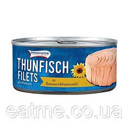 Филе тунца в растительном масле Dreimaster Thunfisch Filets in Sonnenblumenöl 195 г