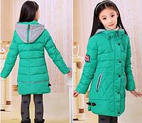 Куртка-пуховик на девочку подростка   Д 0965-И
