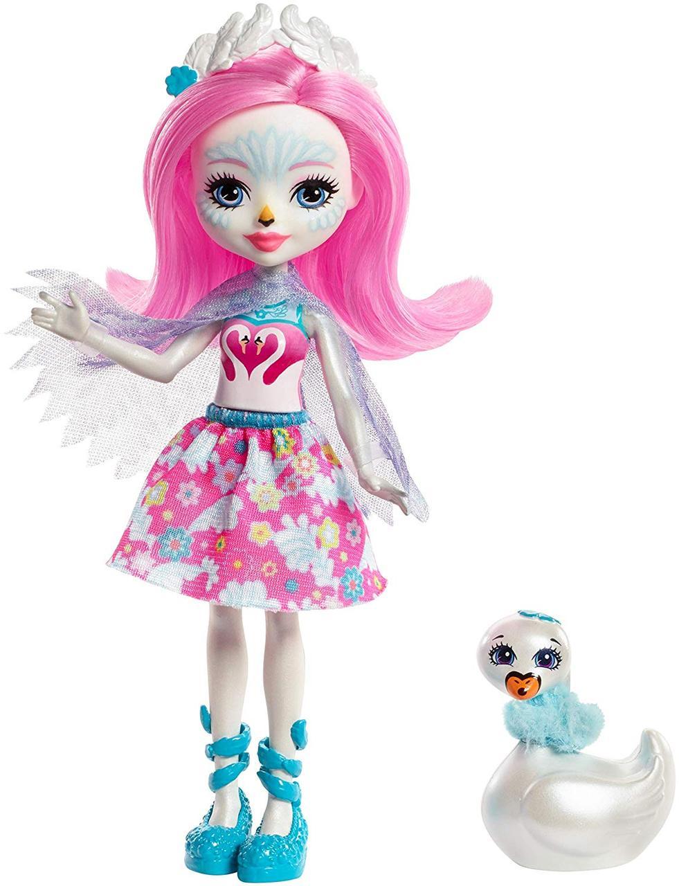 Enchantimals Лебедь Саффи и друг Пойз Enchantimals Saffi Swan Doll & Poise