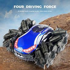 Машинка-перевертыш Drift Stunt NEW 2020 на радиоуправление blue, фото 3