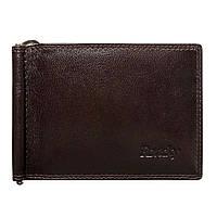 Зажим для денег кожаный Rovicky N1908-RVTK Brown