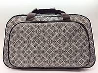 Дорожная женская сумка-саквояж маленькая серая для ручной клади в самолет