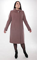 Пальто женское кашемировое -Л-604 пудра, фото 1