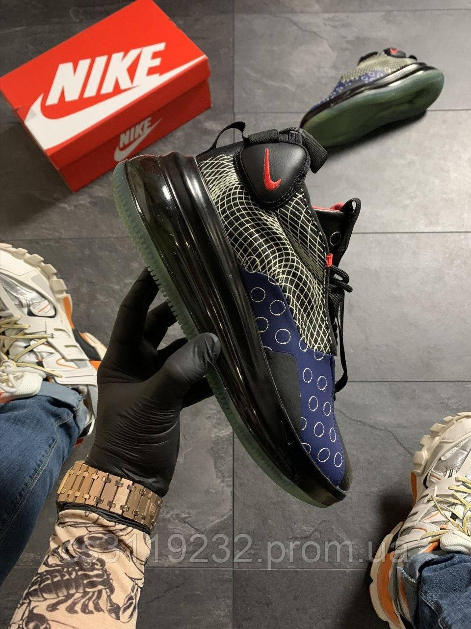 Мужские кроссовки Nike Air Max 720 Sneakerboots Black Blue (черно-синие)