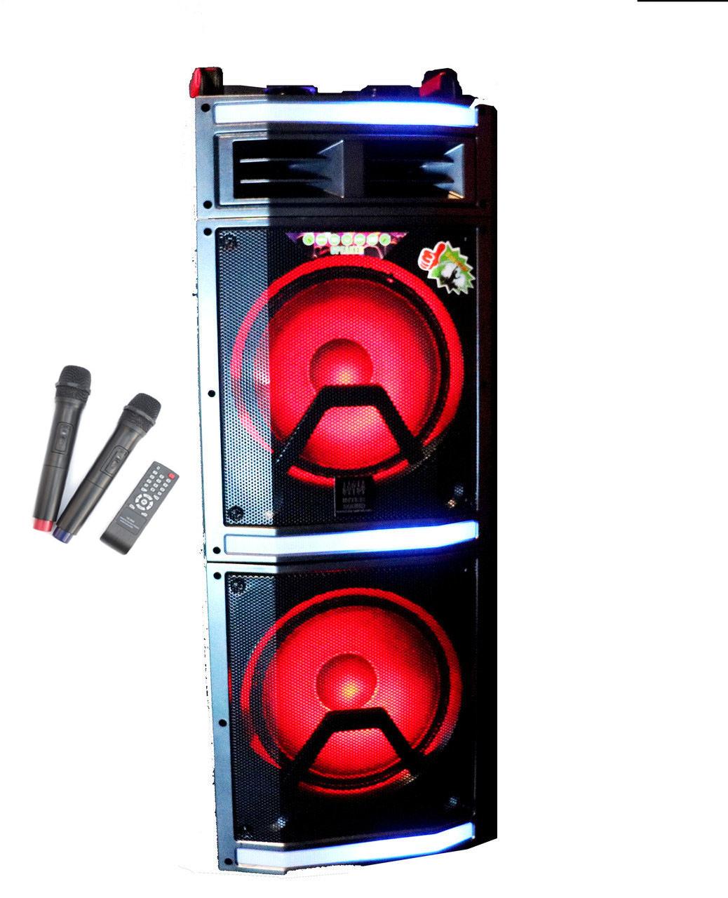Акустическая портативная колонка Buetooth (с акумулятором) и LED подсветкой