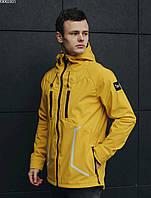 Весенняя желтая курточка со светоотражателями Staff soft shell yellow line KKK0301