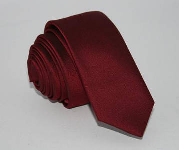Галстук бордовый узкий