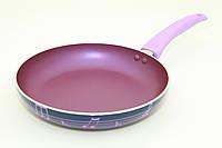 Сковорода 24 см. Diverso сиреневого цвета (алюминий с антипригарным покрытием)