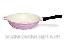 Сковорода-вок глубокая 28 см. Lazurite Fissman (алюминий с керамическим антипригарным покрытием BioCeramica)