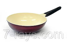 Сковорода-вок глубокая 28 см. Meridian Fissman (алюминий с керамическим антипригарным покрытием BioCeramica)