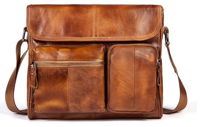 Сумка мужская Vintage 14666 Коричневая, Коричневый