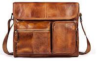 Сумка мужская Vintage 14666 Коричневая, Коричневый, фото 1