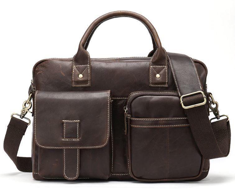 Сумка - портфель мужская Crazy horse Vintage 14667 Коричневая, Коричневый