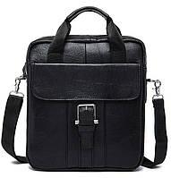 Сумка мужская Vintage 14674 Черная, Черный, фото 1