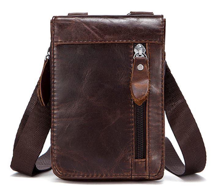 Сумка-клатч на ремень мужская Vintage 14690 Коричневая, Коричневый
