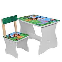 Детский столик со стульчиком 504-11 Зоопарк.