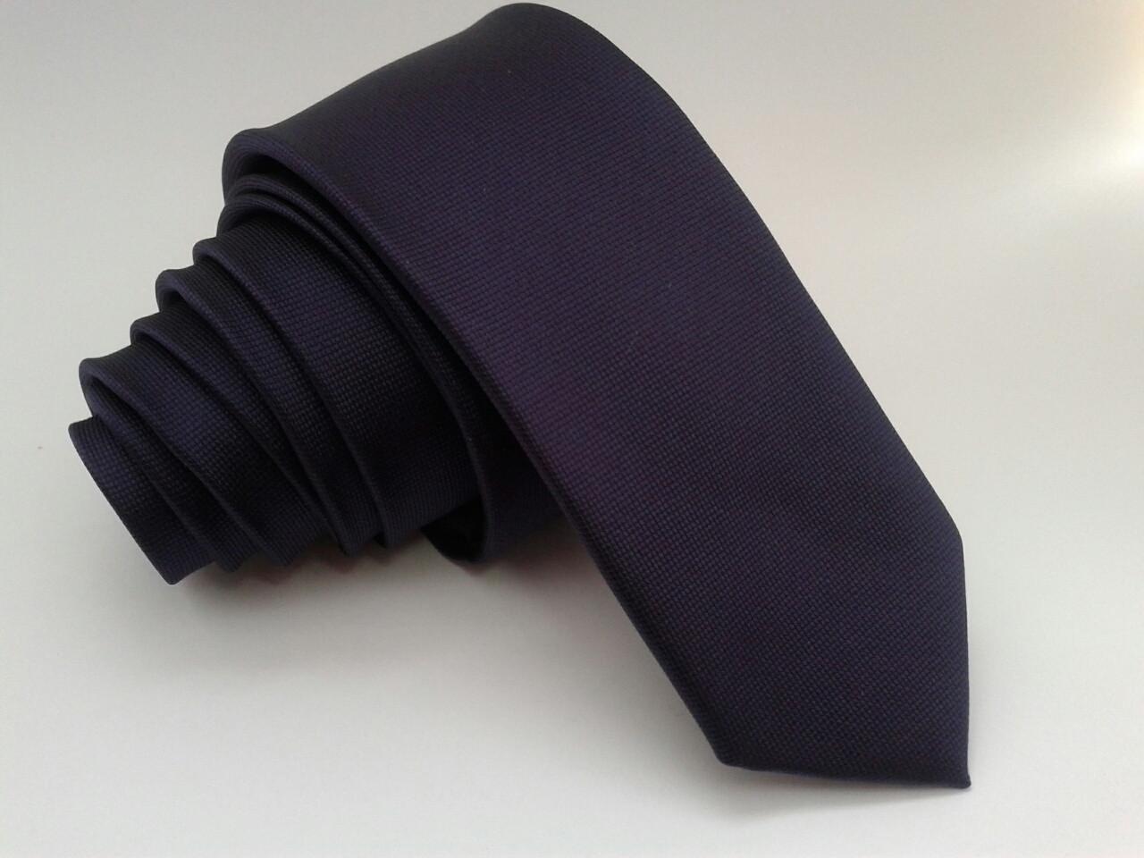 Галстук фиолетовый узкий