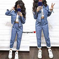 Стильный джинсовый костюм, размеры 42-44, 44-46, фото 3