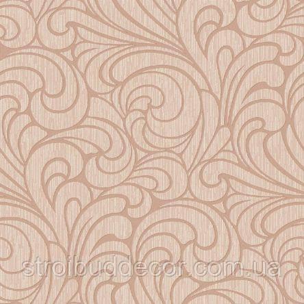 Обои бумажные акриловые (пенообои) 0,53*10,05  узор  Слобожанские розовый