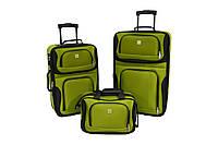 Набор чемоданов Bonro Best 2 шт и сумка зеленый