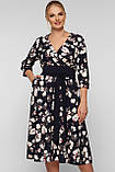Платье расклешенное Луиза цветы, фото 2