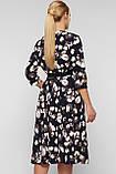 Платье расклешенное Луиза цветы, фото 3