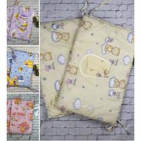 Защита-бампер в детскую кроватку Baby-tex gоld цвет на выбор.