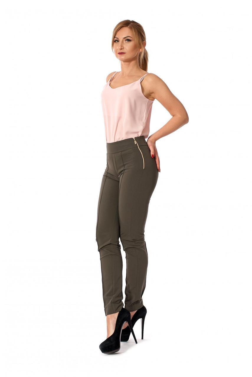 Красивые качественные прямые брюки средней посадки, 42-46.