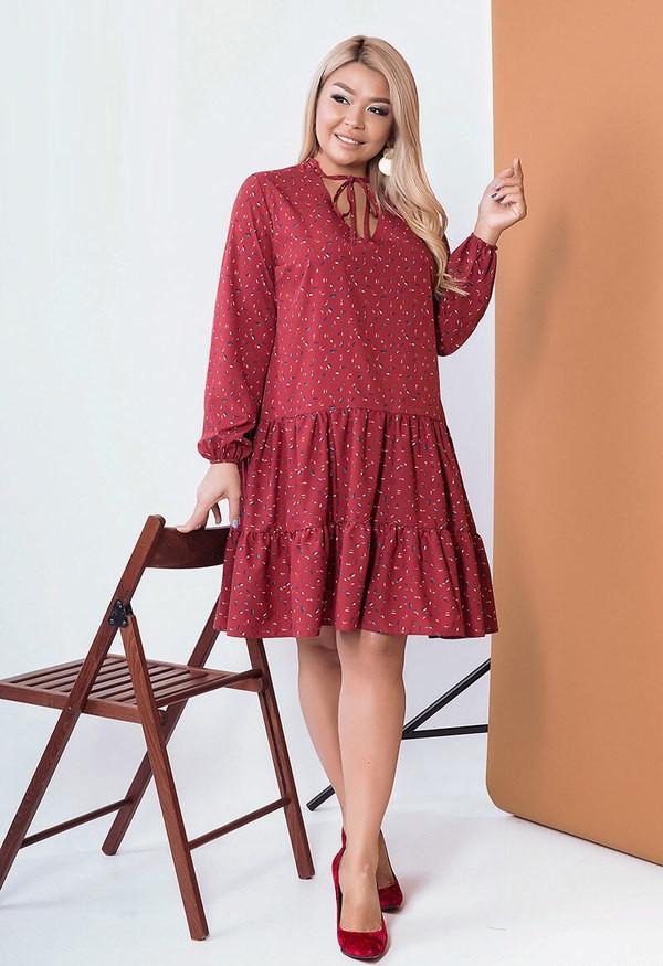 Легкое платье из софта 57501 (50–60р) в расцветках