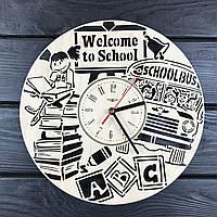 Оригинальные интерьерные настенные часы «Добро пожаловать в школу», фото 1