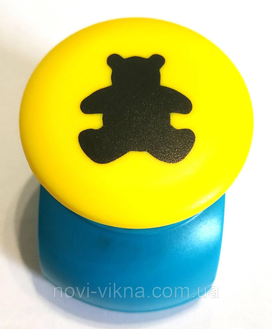 Дырокол фигурный для детского творчества JF-823С, мишка.
