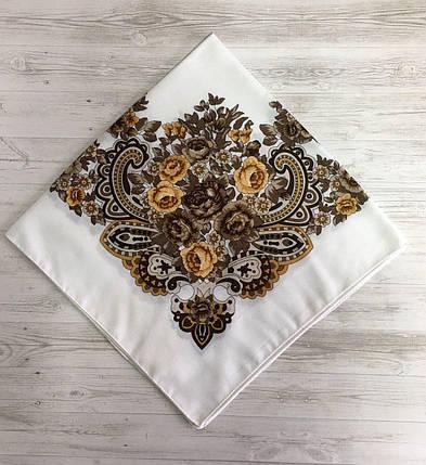 Женский шерстяной платок Цветок, фото 2